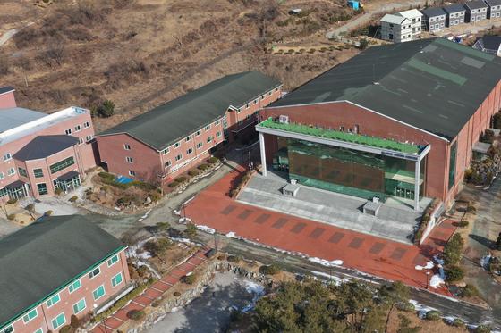 14일 경북 상주시 화서면 상용리 봉황산 끝자락에 위치한 BTJ 열방센터 모습. [뉴스1]