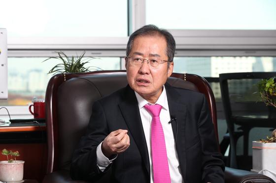 홍준표 무소속 의원. 우상조 기자