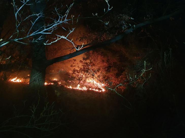 산림청 중앙산불방지대책본부는 18일 자정께 상계동 수락산에 발생한 산불을 진화했다고 전했다. 연합뉴스