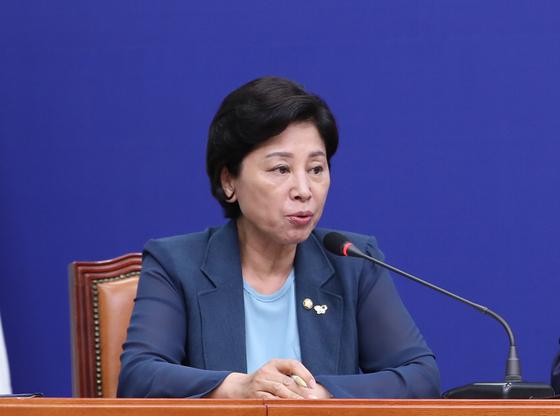 발언하는 민주당 남인순 최고위원. 연합뉴스