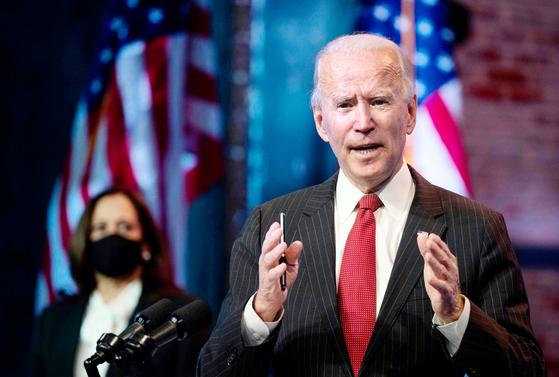 20일(현지시간) 취임을 앞둔 조 바이든 미국 대통령 당선인. [AFP=연합뉴스]