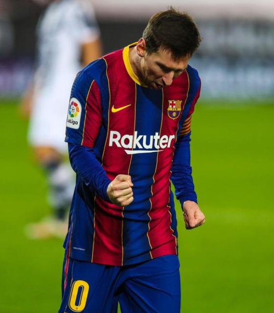 상대 선수를 때린 메시가 2경기 출전정지 처분을 받았다. [사진 바르셀로나 인스타그램]
