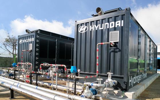 현대차가 독자 개발한 수소연료전지 발전시스템. 사진 현대차