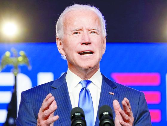 20일(현지시간) 취임을 앞둔 조 바이든 미국 대통령 당선인. [로이터=연합뉴스]