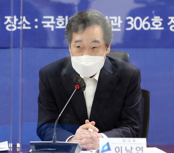 이낙연 더불어민주당 대표가 21일 오전 서울 여의도 국회에서 열린 2021 국가경제자문회의 제1차회의에 참석해 발언하고 있다. 오종택 기자