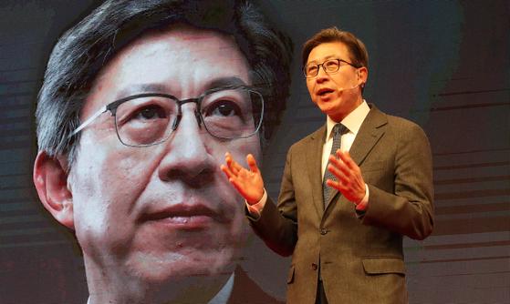 국민의힘 부산시장 후보자 경선에 나선 박형준 동아대 교수. 송봉근 기자