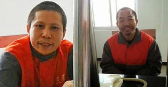 쉬즈융(왼쪽)과 딩자시의 최근 모습. [트위터]