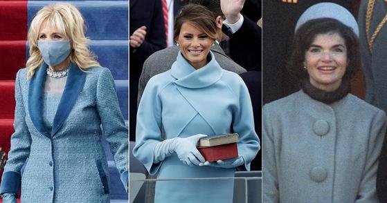 다시 하늘색을 입 었는데 … 60 년 전 초보 여성들을 겨냥한 '재키 스타일'