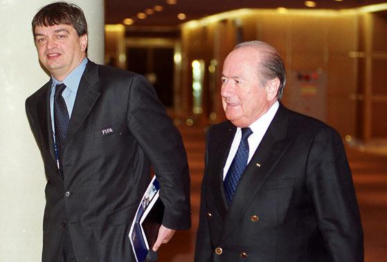 제프 블라터 전 국제축구연맹(FIFA) 회장. 중앙포토.