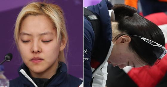 김보름 선수(왼쪽), 노선영 선수(오른쪽) [연합뉴스]