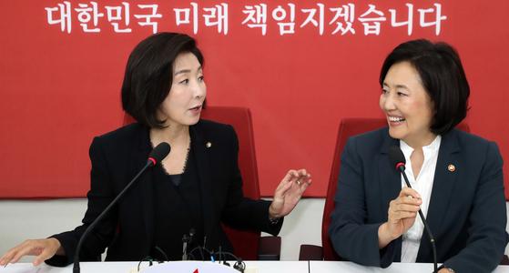 """나경원, 박영선 출마에 """"반가운 일…같이 고민할 기회 있었으면"""""""