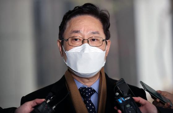 질문 답하는 박범계 법무부 장관 후보자. 연합뉴스