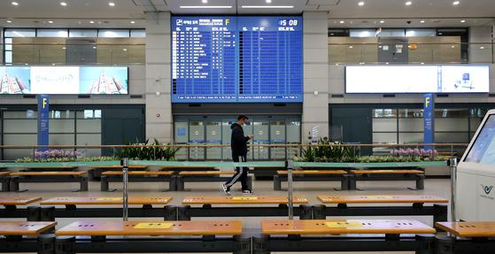 지난달 23일 인천국제공항 입국장 모습. [뉴스1]