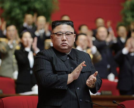 조선중앙통신은 1월 10일 열린 조선노동당 제8차 대회에서 김정은이 당 총비서로 추대됐다고 보도했다. / 사진:연합뉴스