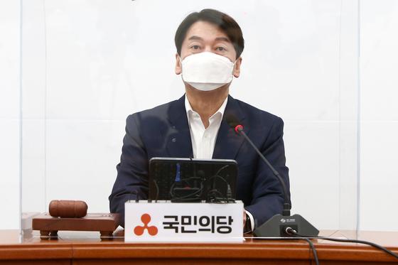 국민의당 안철수 대표가 25일 국회에서 열린 최고위원회의에서 발언하고 있다. 오종택 기자