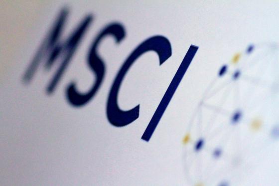 글로벌 투자 지표 중 하나인 MSCI 지수 로고. 로이터=연합뉴스