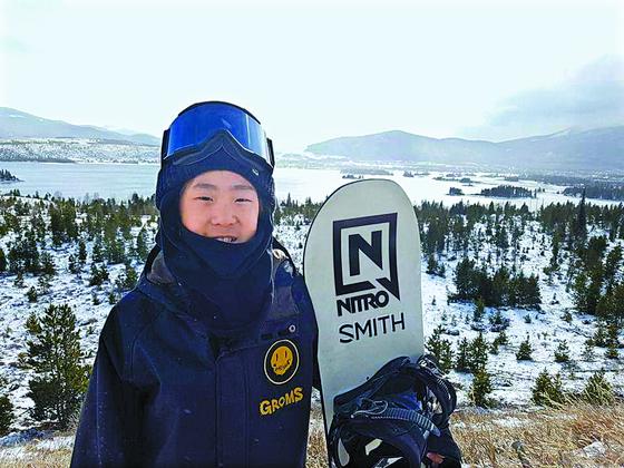 스노보드 신동 이채운이 미국에서 열린 FIS컵 스노보드 하프파이프 대회에서 우승했다. [사진 이채운]