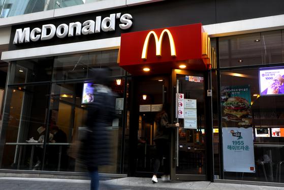 서울시내 맥도날드 매장의 모습. 뉴스1