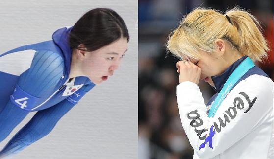 2018년 평창 동계올림픽 당시 노선영(왼) 선수와 김보름 선수.