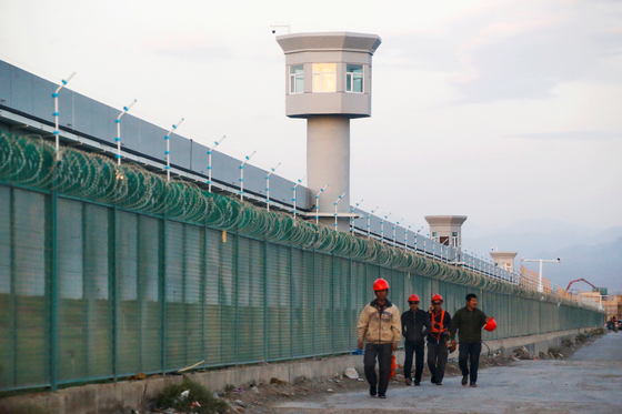 중국 신장 신위안현의 위구르족 수용소. 로이터=연합뉴스