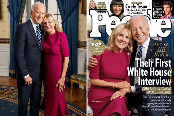 조 바이든 미국 대통령은 취임 후 첫 인터뷰를 미국 주간지 피플과 했다. 3일(현지시간) 공개된 인터뷰에서 바이든 대통령은 ″백악관 생활이 비현실적이면서도 편안하다″고 말했다. [피플지 캡처]