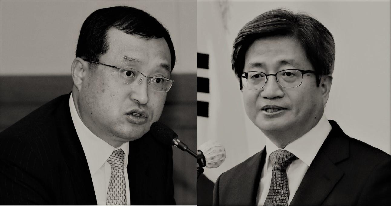 임성근 부장판사(왼쪽), 김명수 대법원장. 연합뉴스