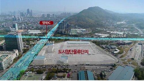 서울 서초구 양재동 한국화물터미널 부지. 연합뉴스