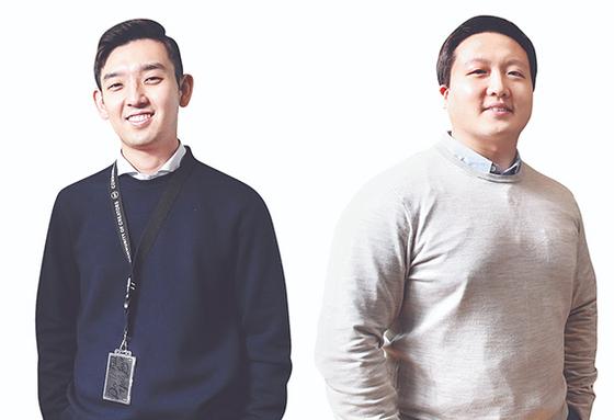 인공지능(AI)으로 위조상품을 감별하는 솔루션을 개발한 스타트업 마크비전의 이인섭 대표(왼쪽)와 이도경 부대표. 우상조 기자