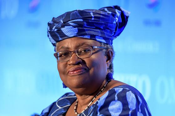 WTO 사무총장 유력한 나이지리아의 오콘조이웨알라 후보. AFP=연합뉴스