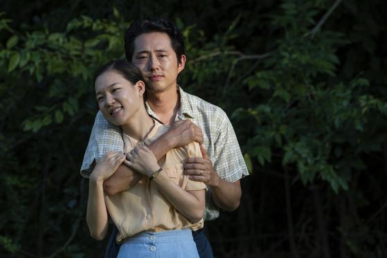 한예리, 스티븐 연 주연 영화 '미나리'가 올해 아카데미 시상식의 주제가상과 음악상 예비 후보에 올랐다. [AP=연합뉴스]