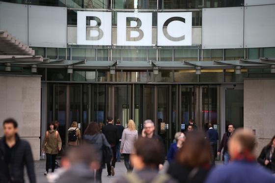 영국 런던의 BBC 방송국 본사. [AFP=연합뉴스]