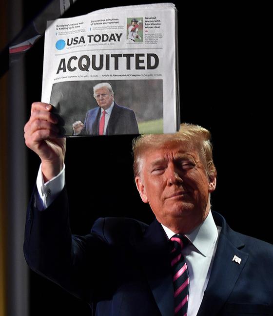 트럼프, '반란 선동'에 대한 무죄 판결 … 탄핵, 또 상원 벽에서 막힘