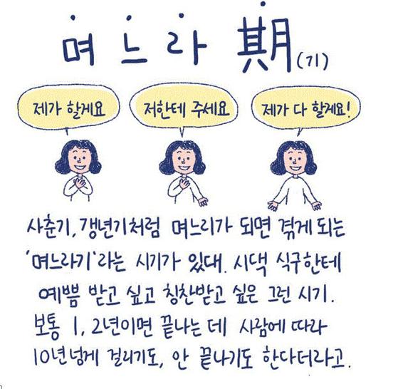 화제 속에 종영한 웹드라마 '며느라기'의 동명 원작 웹툰 중 며느라기에 대해 설명한 부분. [사진 귤프레스]