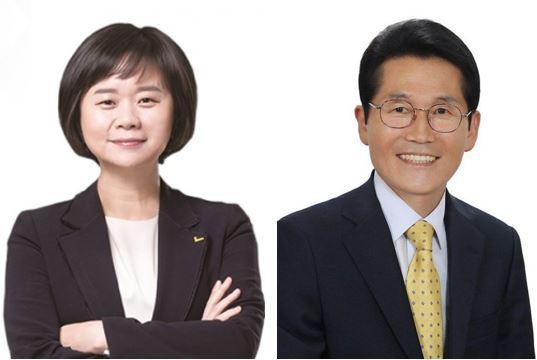 정의당 이정미(왼쪽), 윤소하 전 의원