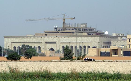 2007년 10월 11일 촬영된 이라크 바그다드의 미국 대사관. [AFP=연합뉴스]