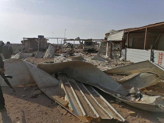 2019년 12월 30일, 미국이 사흘 전 폭격한 이라크 주둔 헤즈볼라 시설이 폐허로 변했다. [AP=연합뉴스]