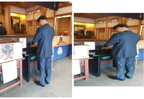 Photo of POSCO Chairman Jeong-Woo Choi's visit to Japan in 2018.  The left is the original photo, and the right, which was deformed by pushing it up and down, is a photo released by Democrat Noh Woong-rae at a hearing on the 22nd.  Provided by POSCO