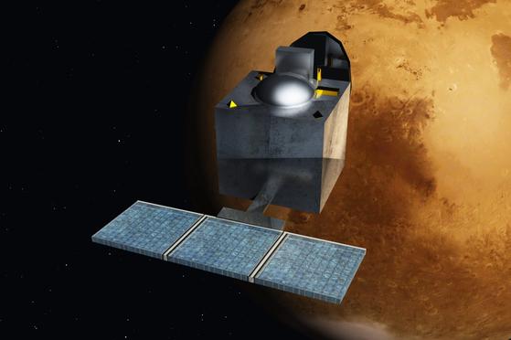 인도의 화성탐사 궤도선 '망갈리안'. [중앙포토]