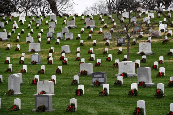 미 버지니아 알링턴 국립묘지. AFP=연합뉴스