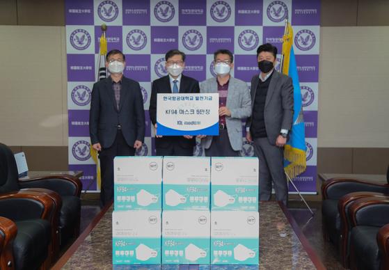제이디엘메디컬, 한국항공대에 KF94 마스크 5만 장 기부