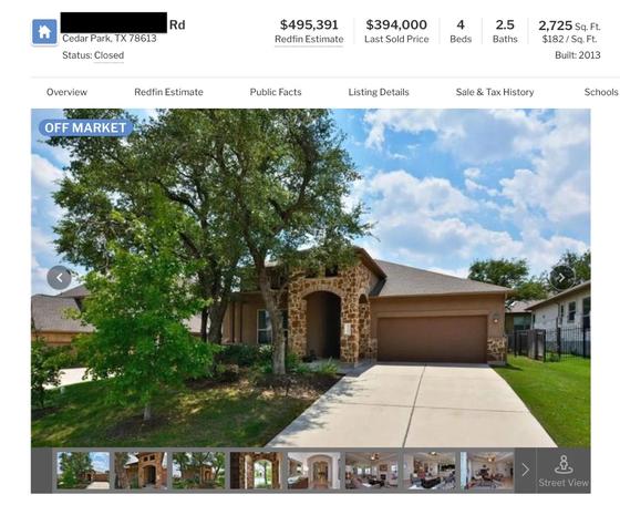 미국 부동산 사이트에 올라온 천핑 교수의 미국 텍사스 저택 사진과 가격 [사진=웨이신 @房東經濟學Pro]