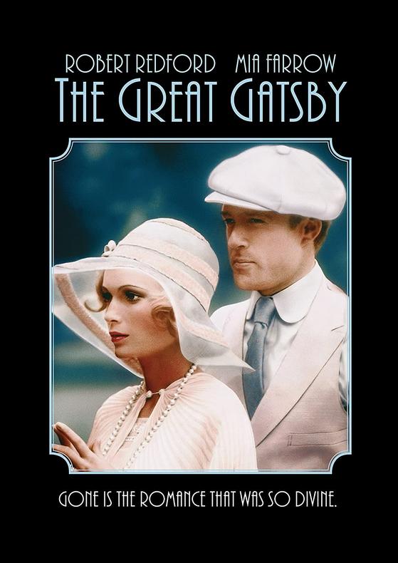 로버트 레드포드와 주연한 영화 '위대한 개츠비(1974)'의 미아 패로우. 여주인공 데이지로 열연했다. [영화 공식 포스터]