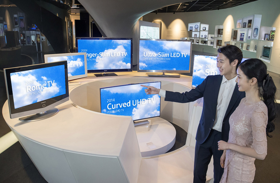 경기도 수원에 있는 삼성 이노베이션 뮤지엄에 진열된 TV. [사진 삼성전자]