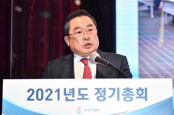 구자열 LS그룹 회장이 24일 한국무역협회 제31대 회장에 취임했다 [사진 한국무역협회]