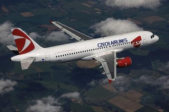 체코항공(에어버스 A320-200기). 체코항공 홈페이지