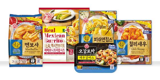 ㈜오뚜기가 코로나19 사태 장기화로 집밥 및 혼술 수요가 커짐에 따라 세계 각국의 간편식 요리를 선보였다. [사진 ㈜오뚜기]