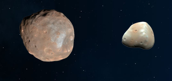 화성의 쌍둥이 위성 포보스·데이모스···원래는 한 몸이었다?