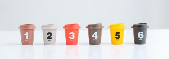 싼둔반의 콜드브루 커피. 컵에 적힌 숫자는 로스팅 정도를 나타냅니다. (이미지: 싼둔반)