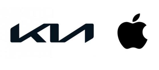 기아(왼쪽)와 애플의 회사 로고. [중앙포토]