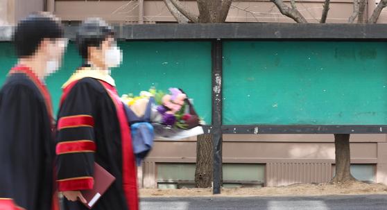 비어있는 서울시내 한 대학의 취업정보 게시판. 연합뉴스